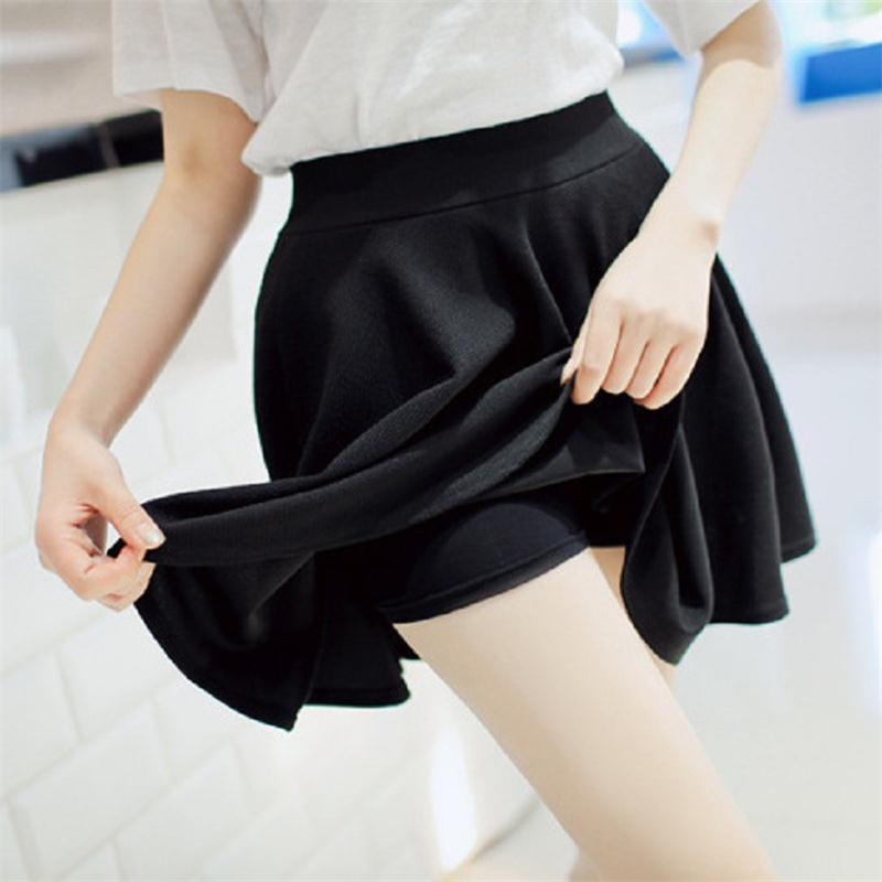 2015 Summer Women New Lined Anti Emptied Pleated Skirts High Waist Casualeavengifts-eavengifts