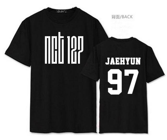 Summer style nct u member name printing short sleeve t shirt foreavengifts-eavengifts