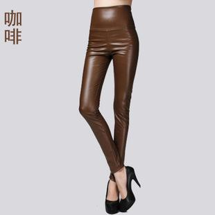 2017 New Spring Women Brand Clothing High Waist Slim Faux Leather Pantseavengifts-eavengifts
