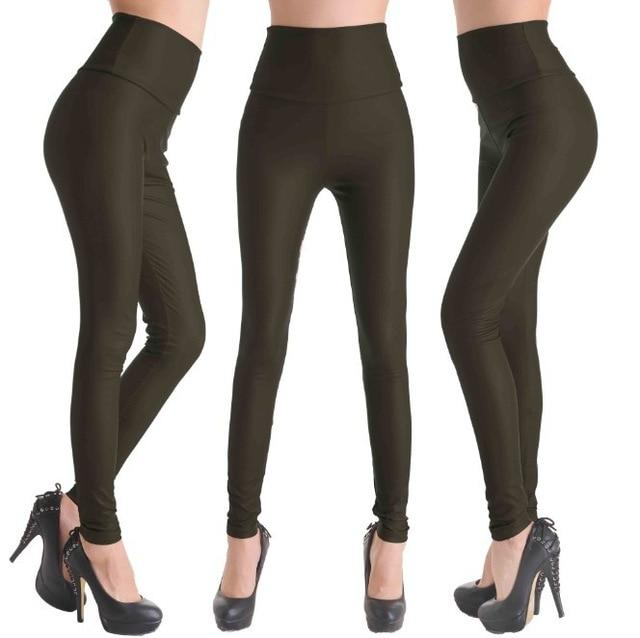2017 New Women Sexy Leggings Faux Leather Stretch Legging High Waist Leggingseavengifts-eavengifts