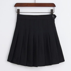 New Fashion Women Skirt High Waisted Solid Mini Skirts Womens Blackeavengifts-eavengifts