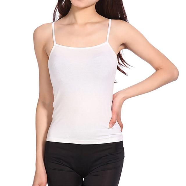 New Tank Tops Women Camisole Vest simple Stretchable Ladies Square Neck casualeavengifts-eavengifts