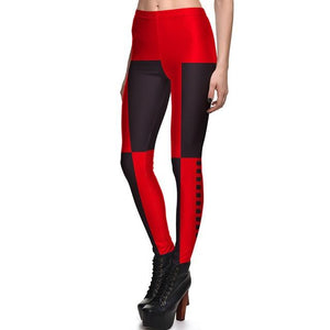 New 3848 Sexy Girl Slim Ninth Pants Chains Batman Harley Quinn Cospalyeavengifts-eavengifts