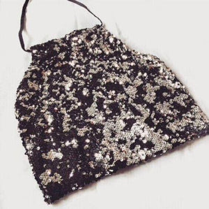 Women Sexy Vest Crop Top Sequin Sleeveless Short Halter Party Tankseavengifts-eavengifts