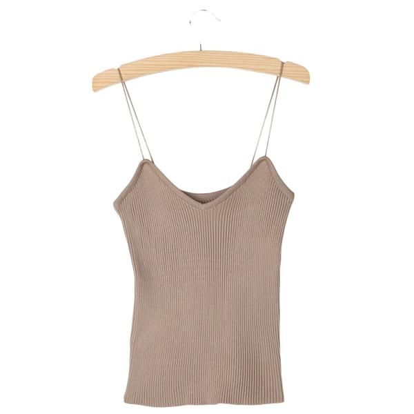 Hot Knit Tank Tops Women Camisole Vest Simple Stretchable V Neck Slimeavengifts-eavengifts