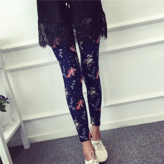 Hot 2017 Print Flower Leggings Leggins Plus Size Legins Guitar Plaid Thineavengifts-eavengifts