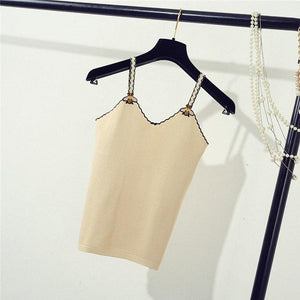 Summer Women Fashion Slim Knitting Camis Tops Girl Knitted Striped Tank Topseavengifts-eavengifts