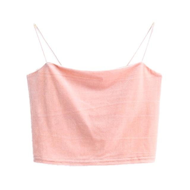 2017 Velvet Short Crop Top 7 Colors Sexy Bralette Bustier Tankeavengifts-eavengifts