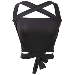 Tube Top Women Sexy Bustier Bralette Strappy Corset Cut Out Tank Blouseeavengifts-eavengifts