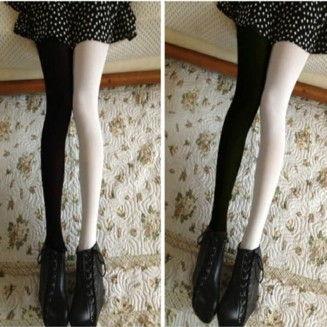 2017 New Casual Cotton Women Sexy Patchwork Tights Stretchy eavengifts-eavengifts