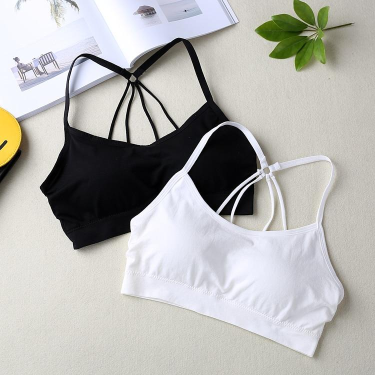Women Crop Tops Camisole Camis Underwear Strappy Padded Fitness Bra Tops Croppedeavengifts-eavengifts