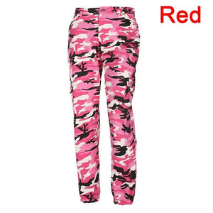 Fashion Women Camouflage Pant High Waist Hiphop Pink Camo Pant With Pocketseavengifts-eavengifts