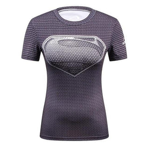 Ladies Comics Marvel Superman Captain America Wonder Women's Compression Shirts Compression Teavengifts-eavengifts