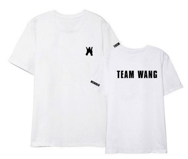 Summer style got7 jackson team wang same printing o neck short sleeveeavengifts-eavengifts