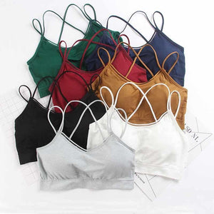 Female Cropped Tops Cotton Casual Crop Top Women spaghetti strap camisole shorteavengifts-eavengifts