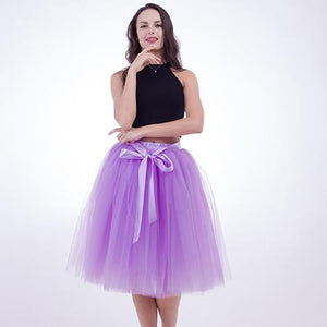 Underskirt 7 Layered Tulle Skirts Womens 2018 Summer High Waist Swing Dollyeavengifts-eavengifts