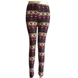 New Brand Women Warm Winter Knit Snowflake Leggings Xmas Stretch Pants Printingeavengifts-eavengifts