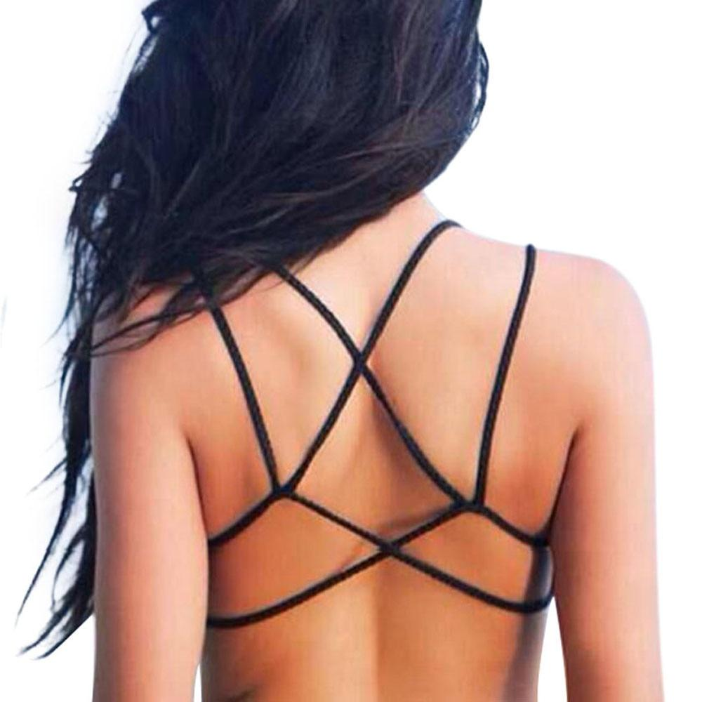 Women Crop Tops Summer 2017 Backless Bandage Strap Cropped Vest Cut Outeavengifts-eavengifts