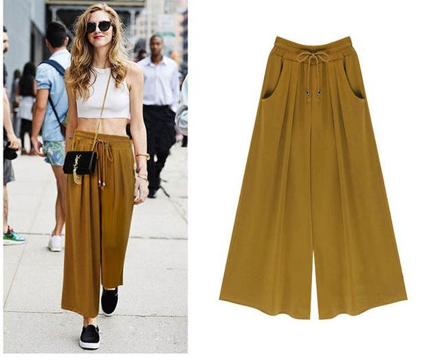 New Summer Women Pants Wide Leg Pants Female Trousers Full Length Higheavengifts-eavengifts