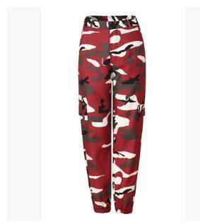 Women Spring Red Camouflage Pants Fashion Street Jean Trousers Pantalon Mujer Pencileavengifts-eavengifts