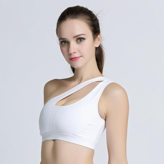 2018 New Alone Shoulder Strappy Bra Cropped Women Bra Built-in Pad Sportingeavengifts-eavengifts