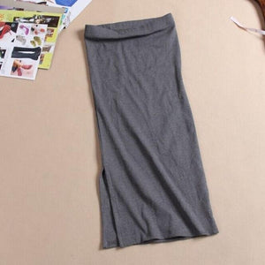 2016 Autumn Winter Women Skirt Wool Rib Knit Long Skirt Faldas Packageeavengifts-eavengifts