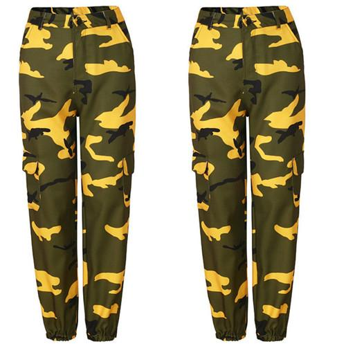 Womens Camo Cargo Trousers Casual Pants Military Army Combat Camouflage Jeans Jeanseavengifts-eavengifts