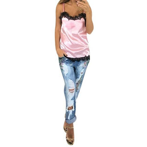 Hot Selling 2018 Fashion Sexy Women Solid Summer Lace Casual patchwork Eveningeavengifts-eavengifts