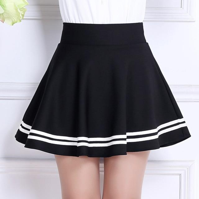 2018 Sweet Pleated Skirt Women Preppy Style Mini High Waist Skirt Girlseavengifts-eavengifts