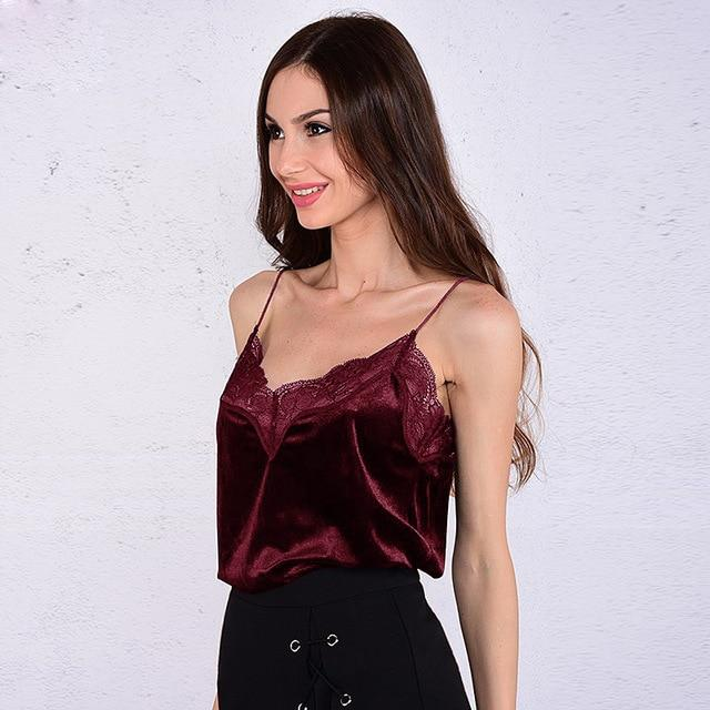 2018 Summer Women Camis Tank Top lady's Sexy sleeveless tops V-neck Veloureavengifts-eavengifts