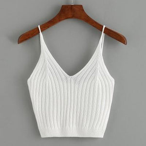 sexy slim tank top women sleeveless crop top halter white black bustiereavengifts-eavengifts