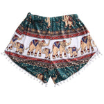 Casual Women Hot Summer High Waist Elephant Print Short Polyester Skinnyeavengifts-eavengifts