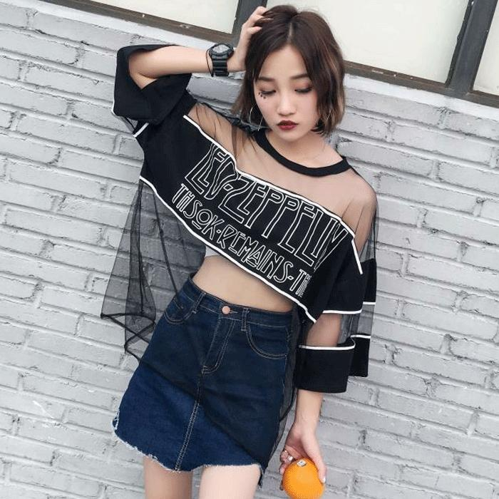 Camisetas Mujer 2018 Summer Fashion Tshirt Top Woman Clothing Korean Style Harajukueavengifts-eavengifts