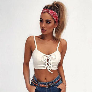 Sexy Women Bandage Padded Bralette Bralet Bra Bustier Crop-Tops Cami Tank Topeavengifts-eavengifts