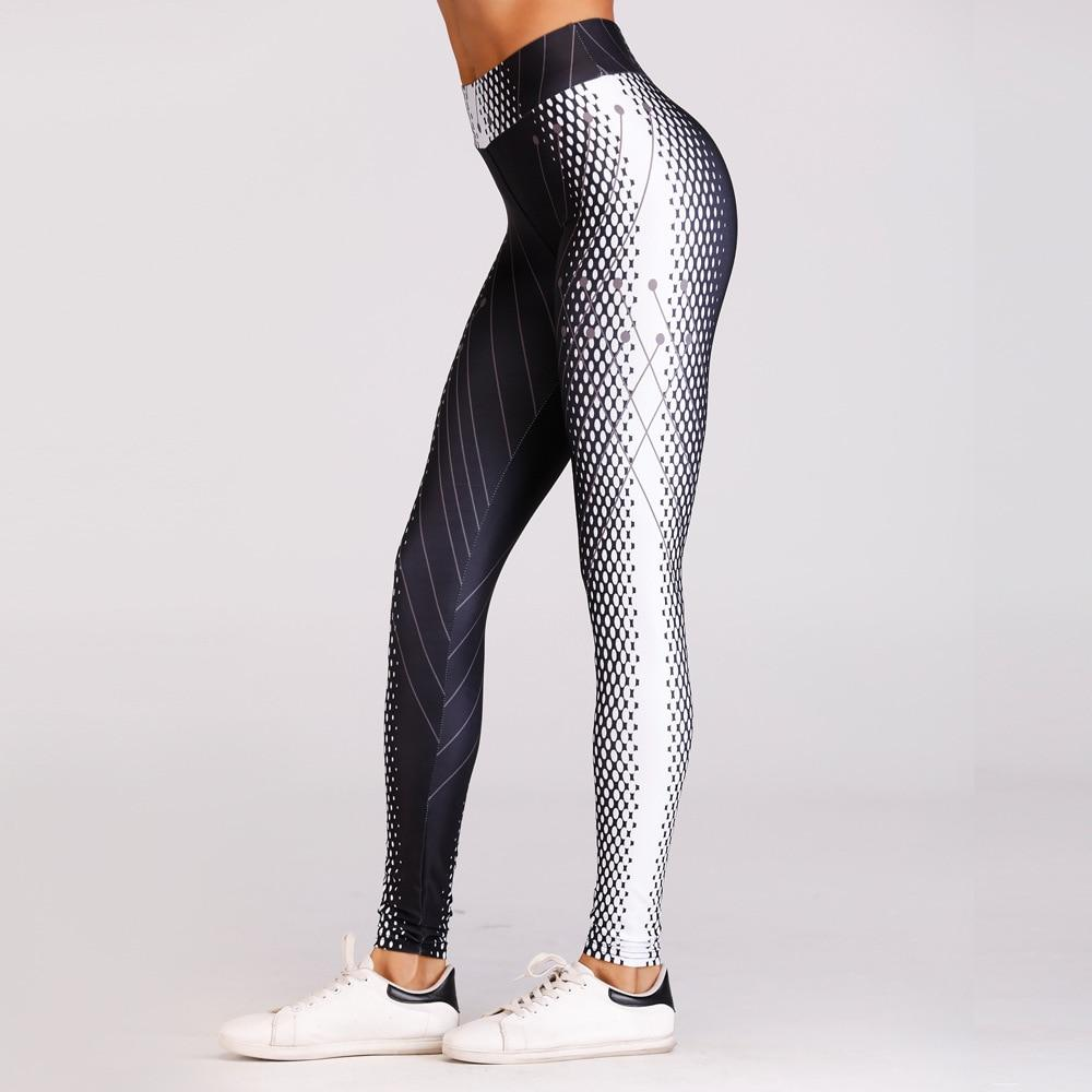 New Arrival Pattern Honeycomb Printed Women Fitness Leggings Skinny High Waist Elasticeavengifts-eavengifts