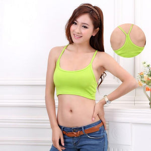 Summer Sexy Crop Top Women Tank Top Candy color Halter Vest Ladieseavengifts-eavengifts