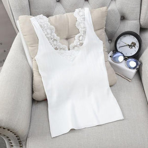 New Summer Tanks & Camis Women Fashion Knitted Hollow Out Tops Laceeavengifts-eavengifts