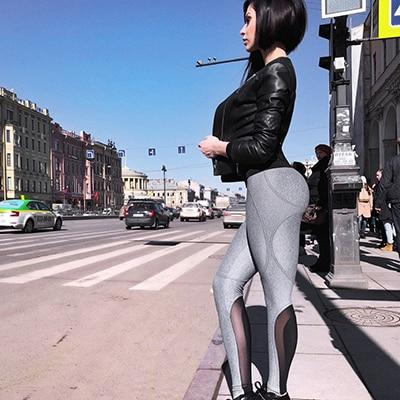 New Women Sexy High Waist Sporting Leggings 2018 Mesh Patchwork Breathable Fitnesseavengifts-eavengifts