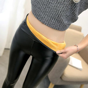 New Fashion Women's Leggings Sexy Casual Cashmere Skinny pu Leather Leg Wintereavengifts-eavengifts