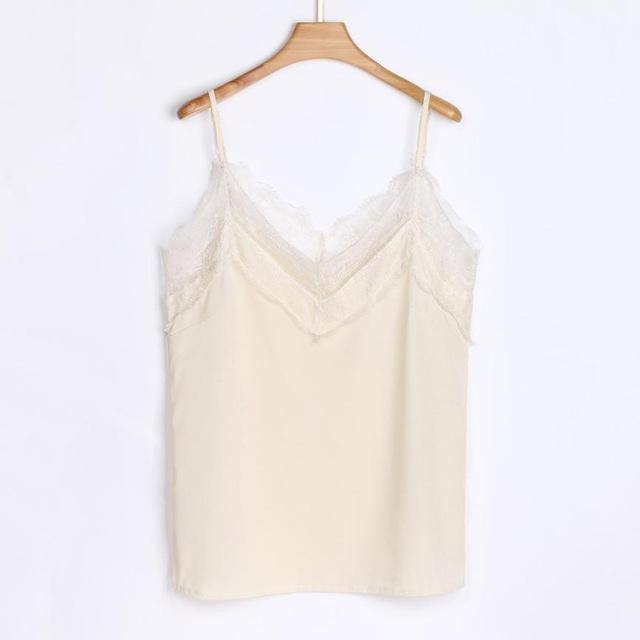 2018 Womens Ladies Tank Tops Summer Solid Casual Lace Sleeveless Sexy Vesteavengifts-eavengifts