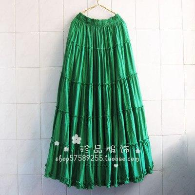 2018 Womens Linen Cotton Long Skirts Plus Size Lady Elastic Waisteavengifts-eavengifts