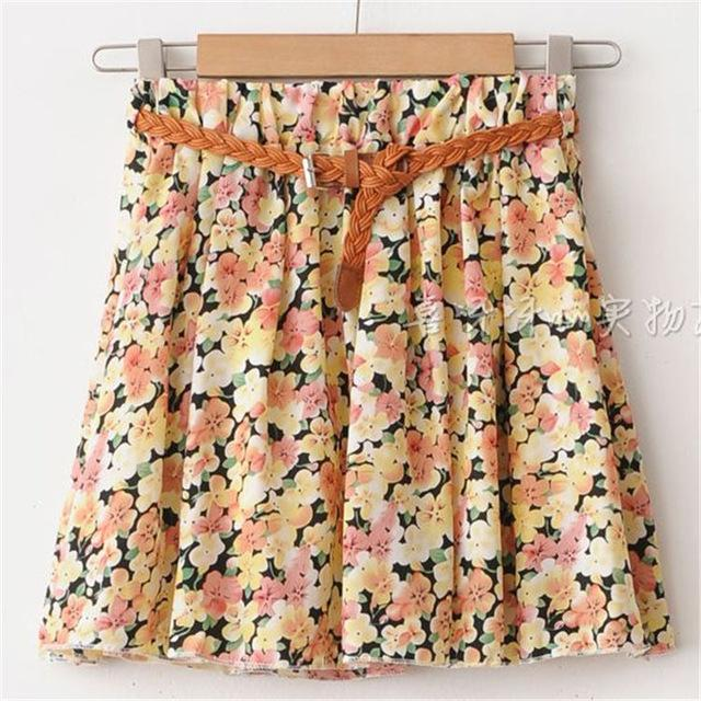 2018 Summer Hot Sale Women's Mini Skirts Floral Printed Saias Female Chiffoneavengifts-eavengifts