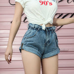 Sexy High Waist Denim Shorts Summer Rolled Hem Jean Shorts Women Casualeavengifts-eavengifts