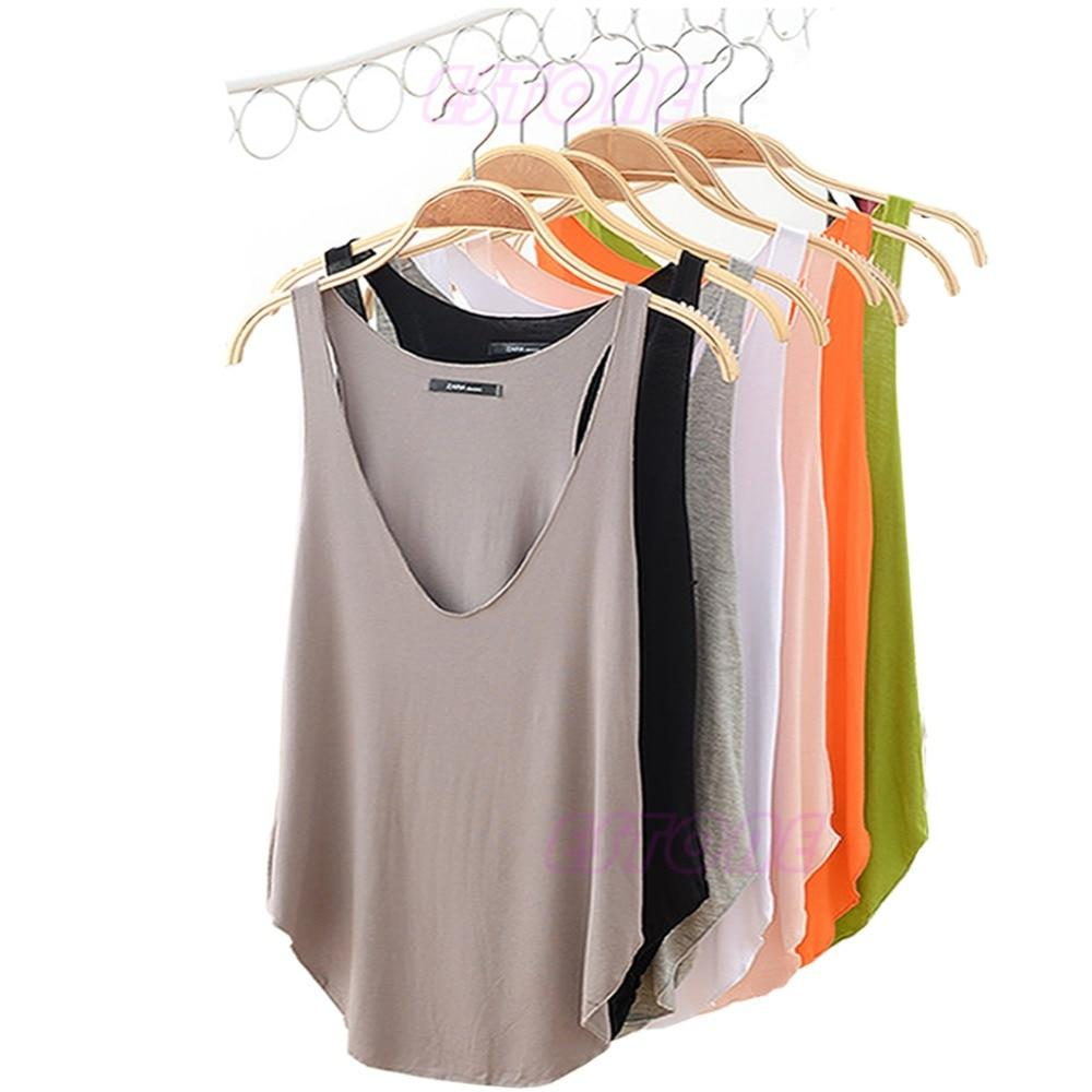 Fashion Womens VNeck Vest Summer Loose Sleeveless Tank TShirt Topseavengifts-eavengifts