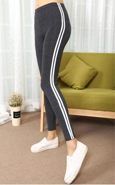 Fashion 2018 Leggings women Striped Ankle-Length Pants women pencil pants casualeavengifts-eavengifts