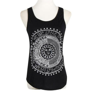 Fashion Sun Print Tank Top Vest Women Beach Casual O Neck Camiseavengifts-eavengifts
