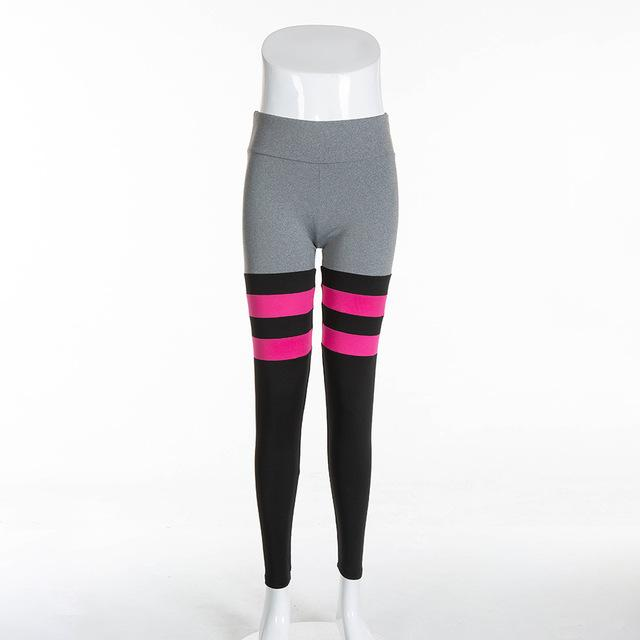 Sporting Sexy Workout Brand Grey Pink Casual Patchwork Fitness Leggingseavengifts-eavengifts