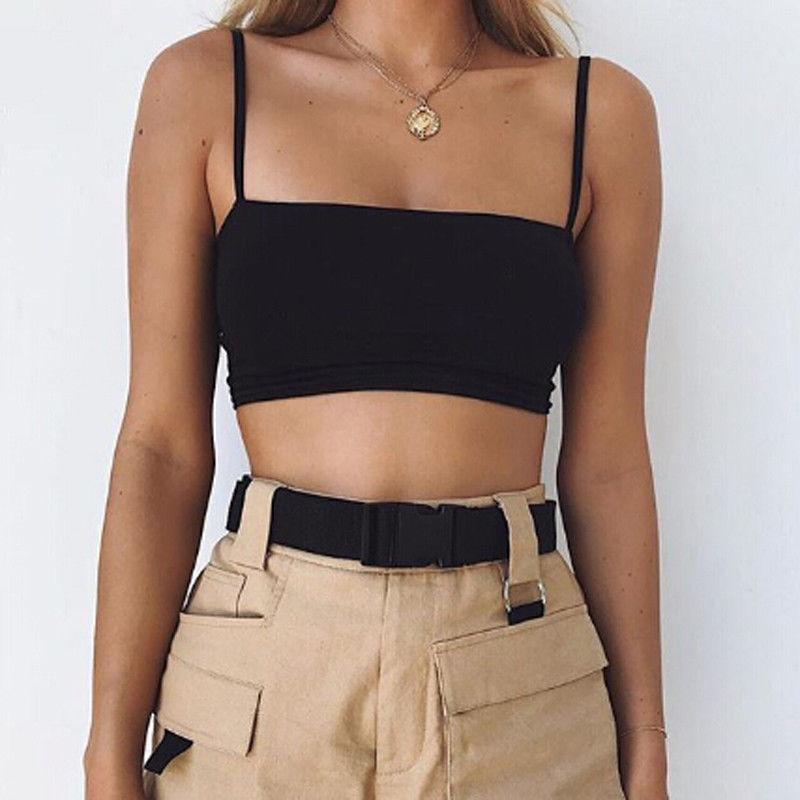 NEW Summer Fashion Women elastic Strappy Top Camis Tied Strap Crop Topseavengifts-eavengifts