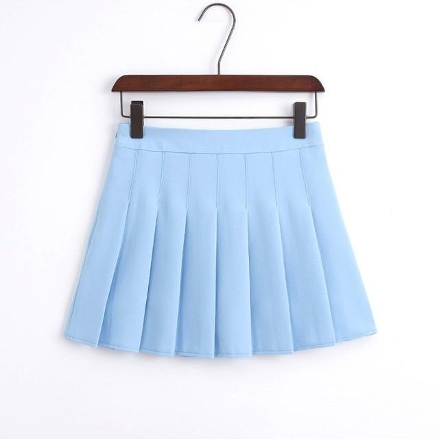 2018 New Arrival Young Pleated High Waist Mini Skirts Summer Sweet Southeavengifts-eavengifts