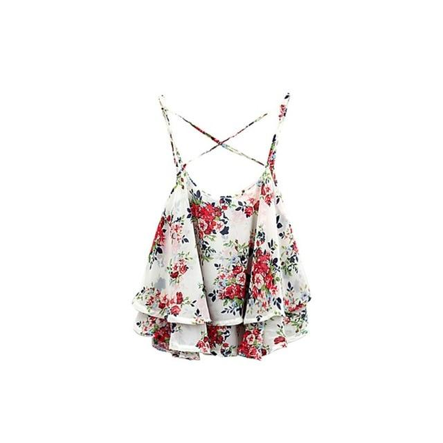 New Arrival 2018 Floral Print Shirt Women Shirts Tanks Top Summer Clothingeavengifts-eavengifts